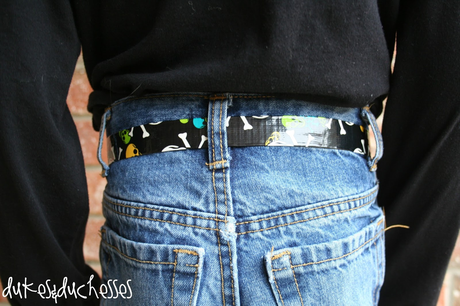 a duct tape belt for boys dukes and duchesses