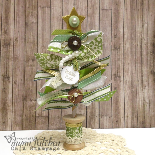 On A Stampage Ribbon Christmas Tree