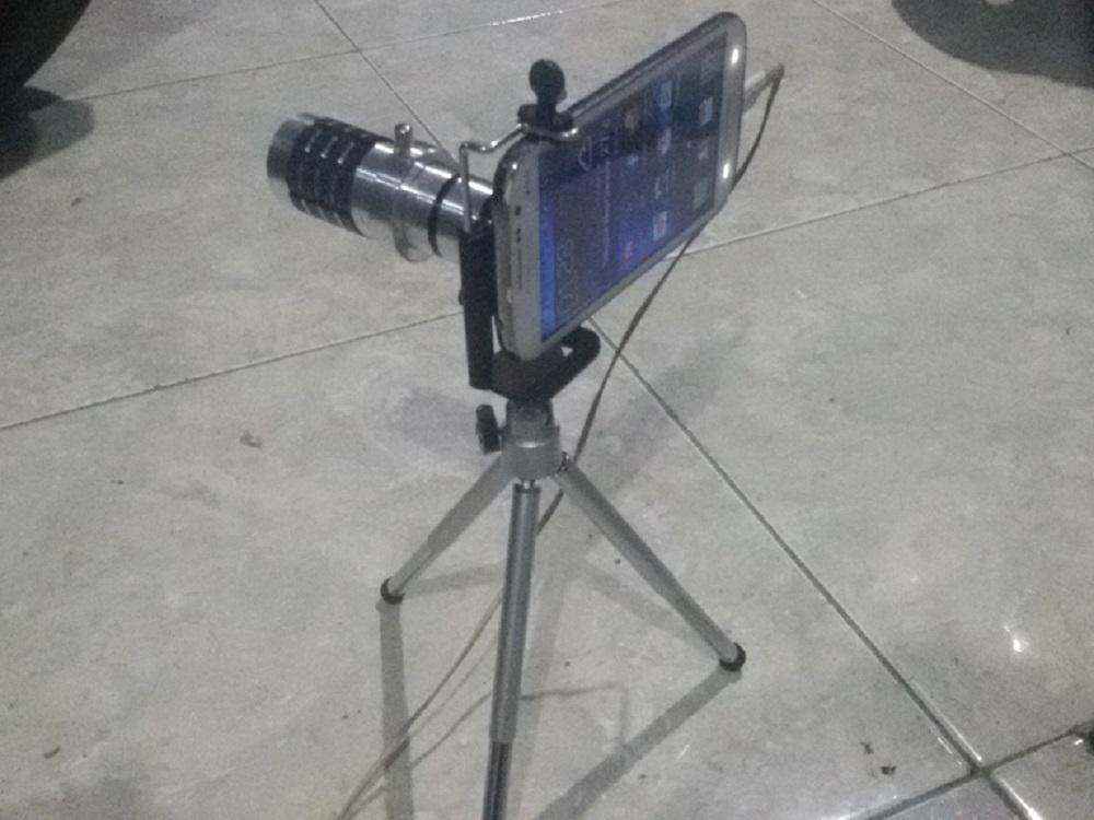 Tes photo hp android with lensa camera telescope 12x zoom iyaora