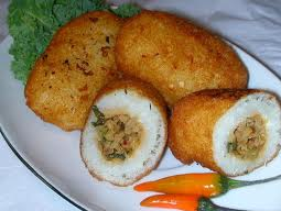 """combro"" Traditional food from Indonesia"
