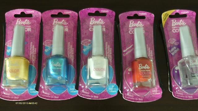 Esmaltes Barbie