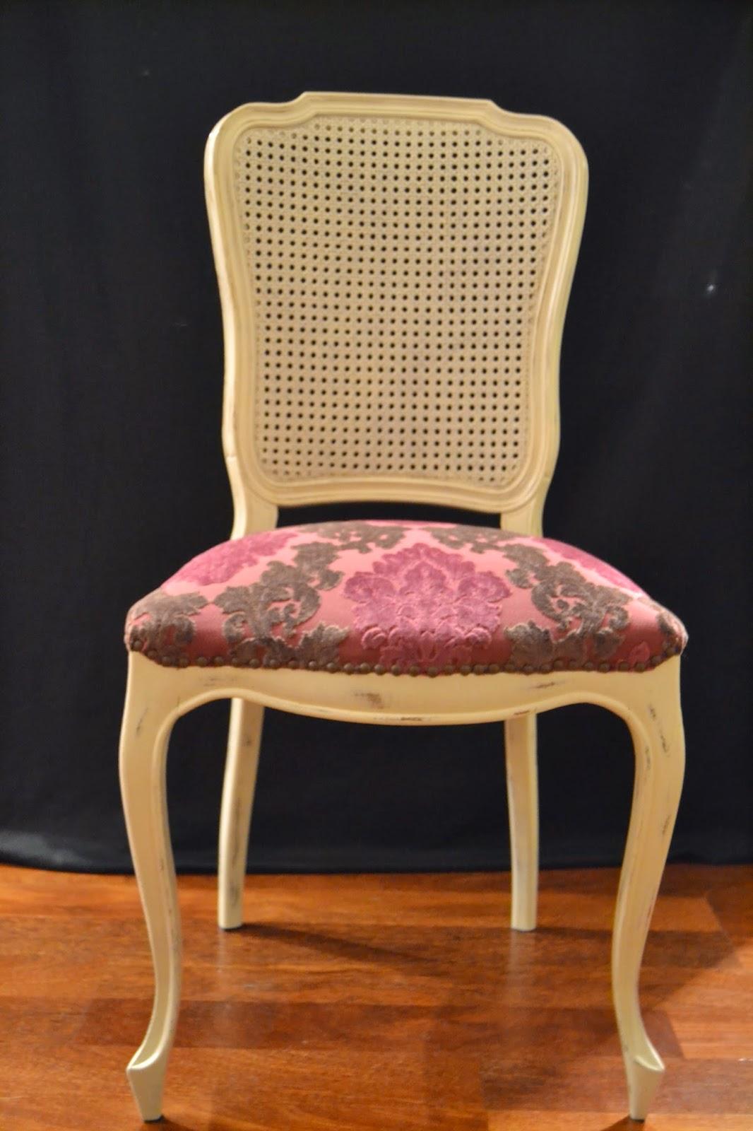 Taller de restauraci n lila sillas a os 60 restauradas - Sillas restauradas ...