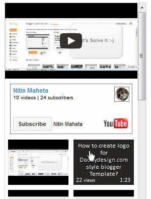 Jquery Plugin Template | Jquery Plugin For Displaying Youtube Video Feed Code Blogger How