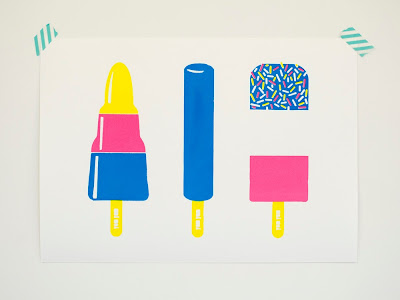 Ice Lollies Screen print