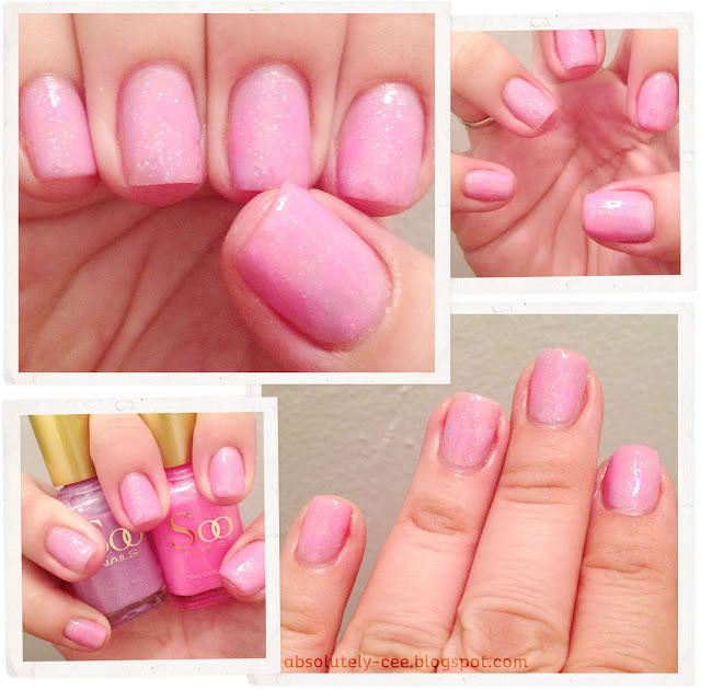 Soo Nails Summer Peach and Summer Pink