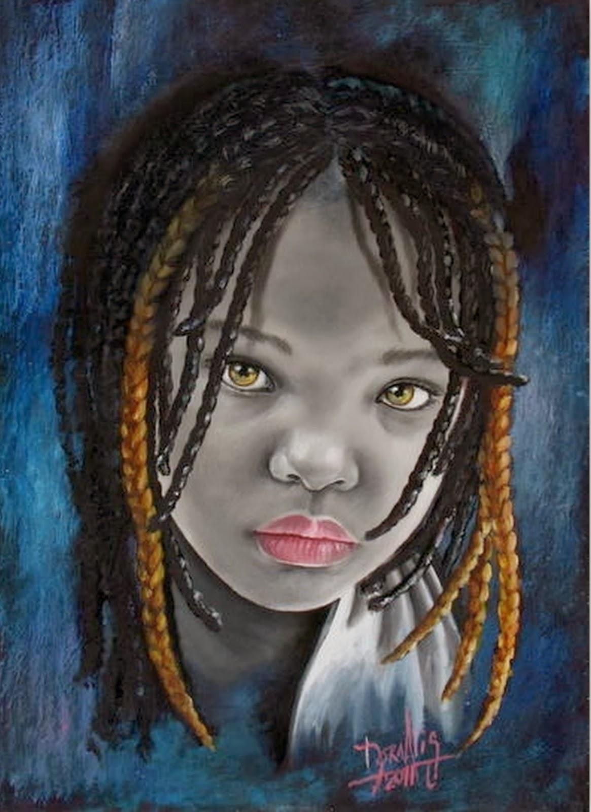 Pintura moderna y fotograf a art stica rostros africanos - Pinturas de cara para ninos ...