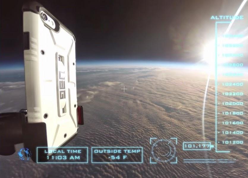 بالفيديو: إسقاط آيفون 6 بلس من الفضاء