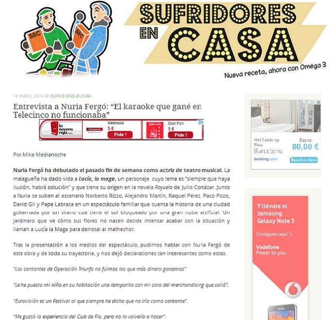 Nuria ferg web entrevista a nuria en el blog sufridores en casa - Sufridores en casa ...