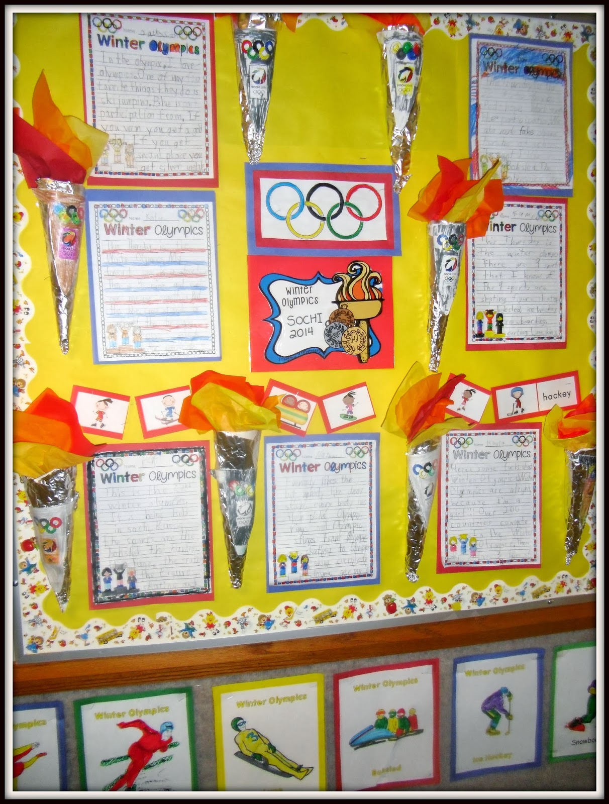 Olympic Torch And Pictographs Pattie S Primary Place