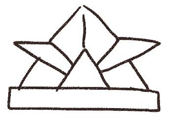 折り紙の兜のイラスト(こどもの日)線画