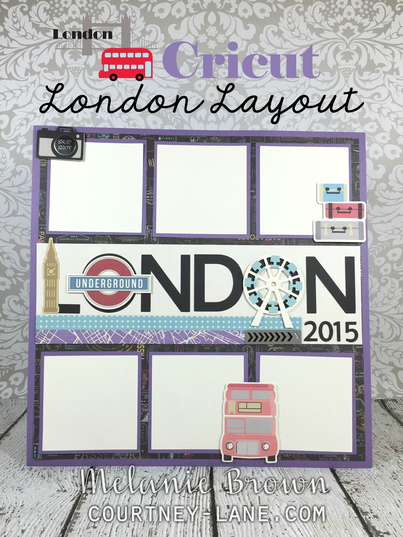 Europe scrapbook ideas - Cricut London Layout