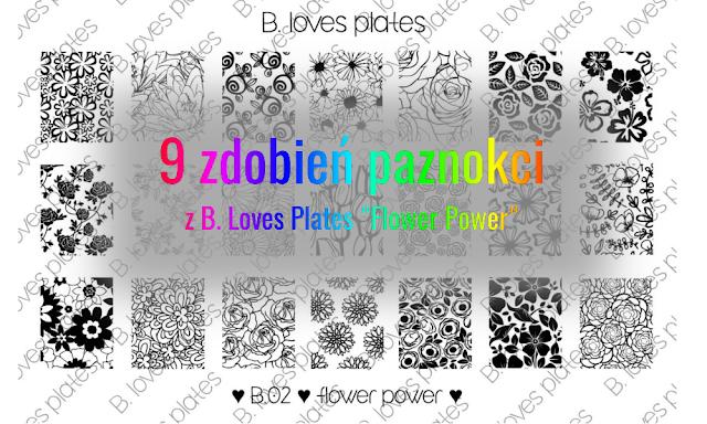 Na górze róże, na dole Flower Power – 9 zdobień paznokci z płytką do stempli B. Loves Plates