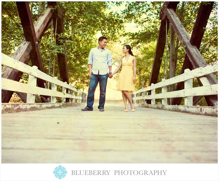East Bay vintage rustic bridge engagement photography session