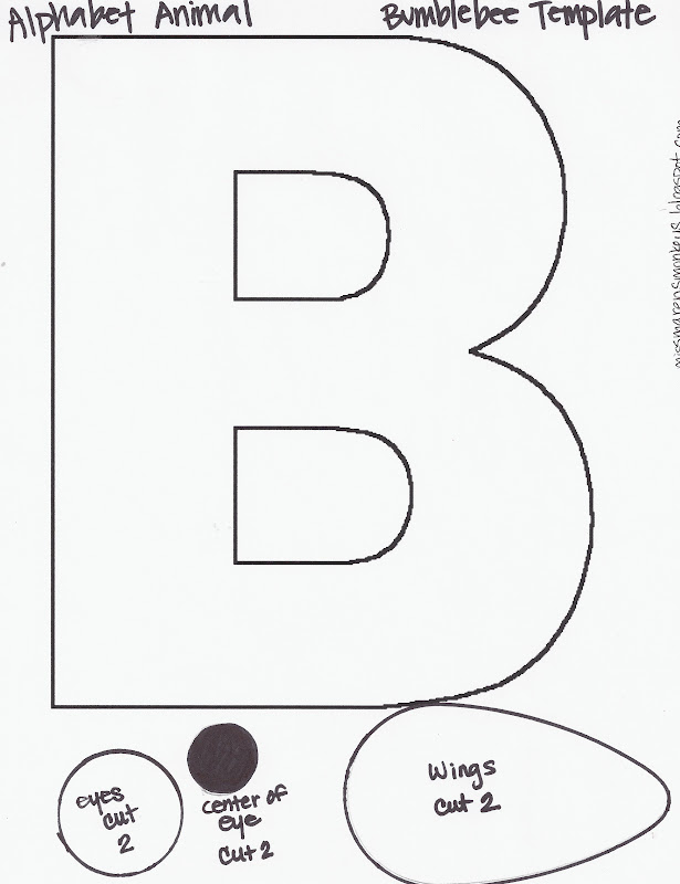 Miss marens monkeys preschool the letter b the letter b updated 2012 bee template added spiritdancerdesigns Choice Image