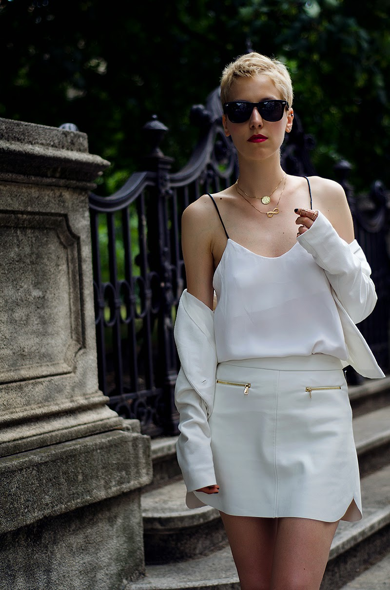 white leather skirt mules front row shop beeswonderland