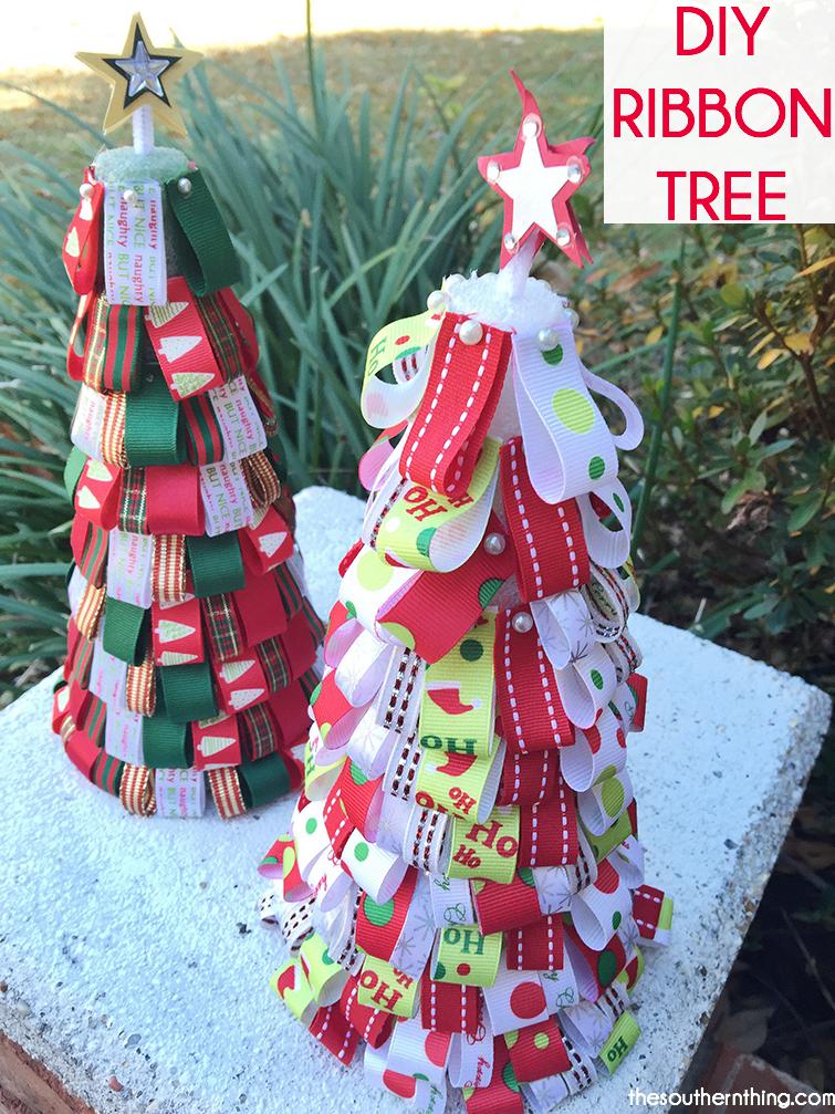 DIY Ribbon Tree