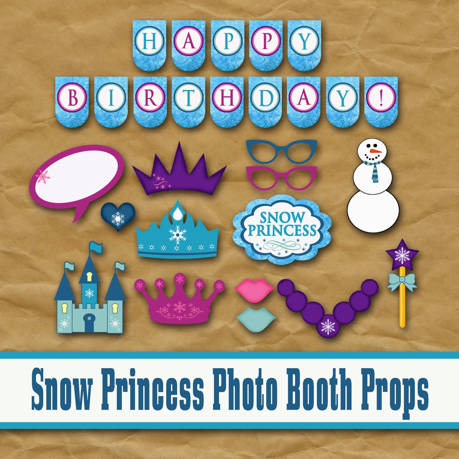 Old Market Corner Frozen Snow Princess Photo Booth Props