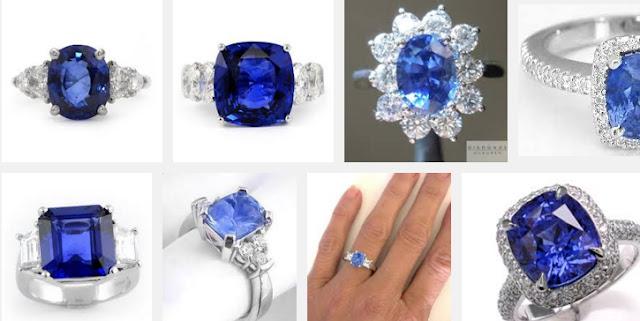blue Ceylon sapphire Rings
