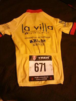 mon dossard pour le Paris-Roubaix Challenge