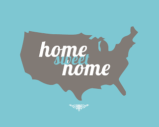 Home Sweet Home Poster blue