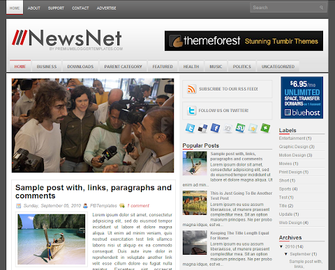 NewsNet Blogger Theme