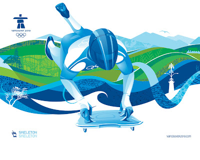 Free Vancouver 2010 Olympic Winter Games PowerPoint Background 19