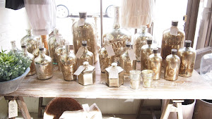 Mercury glass bottles..