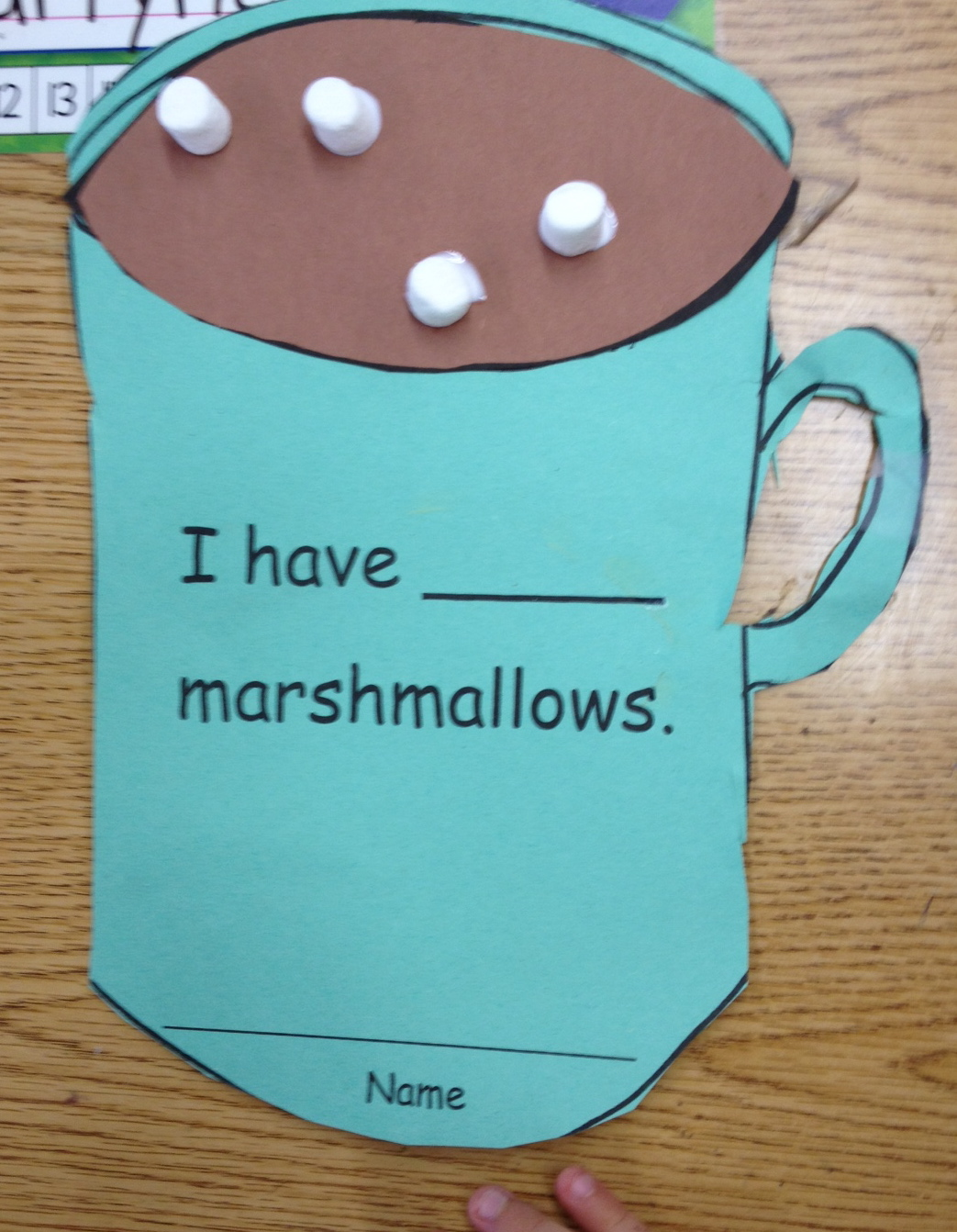 Hot Cocoa Math - Apples and ABC\'s