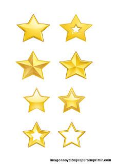 Muchas estrellas en un folio