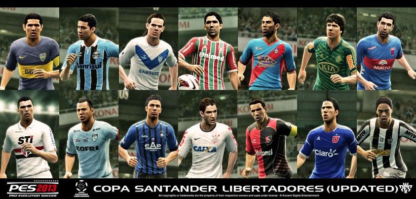Destaques da atualização são novos uniformes, escudos, bolas e novo modo de jogo exclusivo para a Copa Libertadores no PES 2013