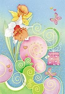 flores, regalos y mariposas  Etiquetas para regalos de flores