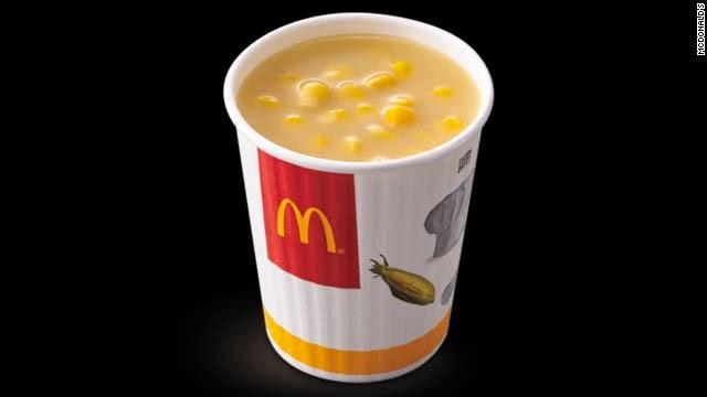 Sup Jagung / Corn Soup Sajian menu McDonalds Taiwan, Hongkong, Singapura