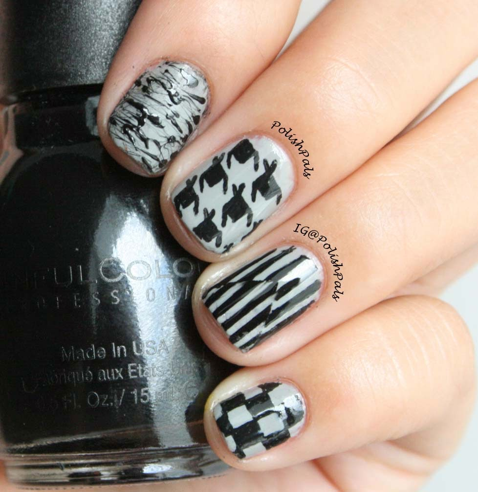 Greyscale Mix & Match Nails by Polish Pals