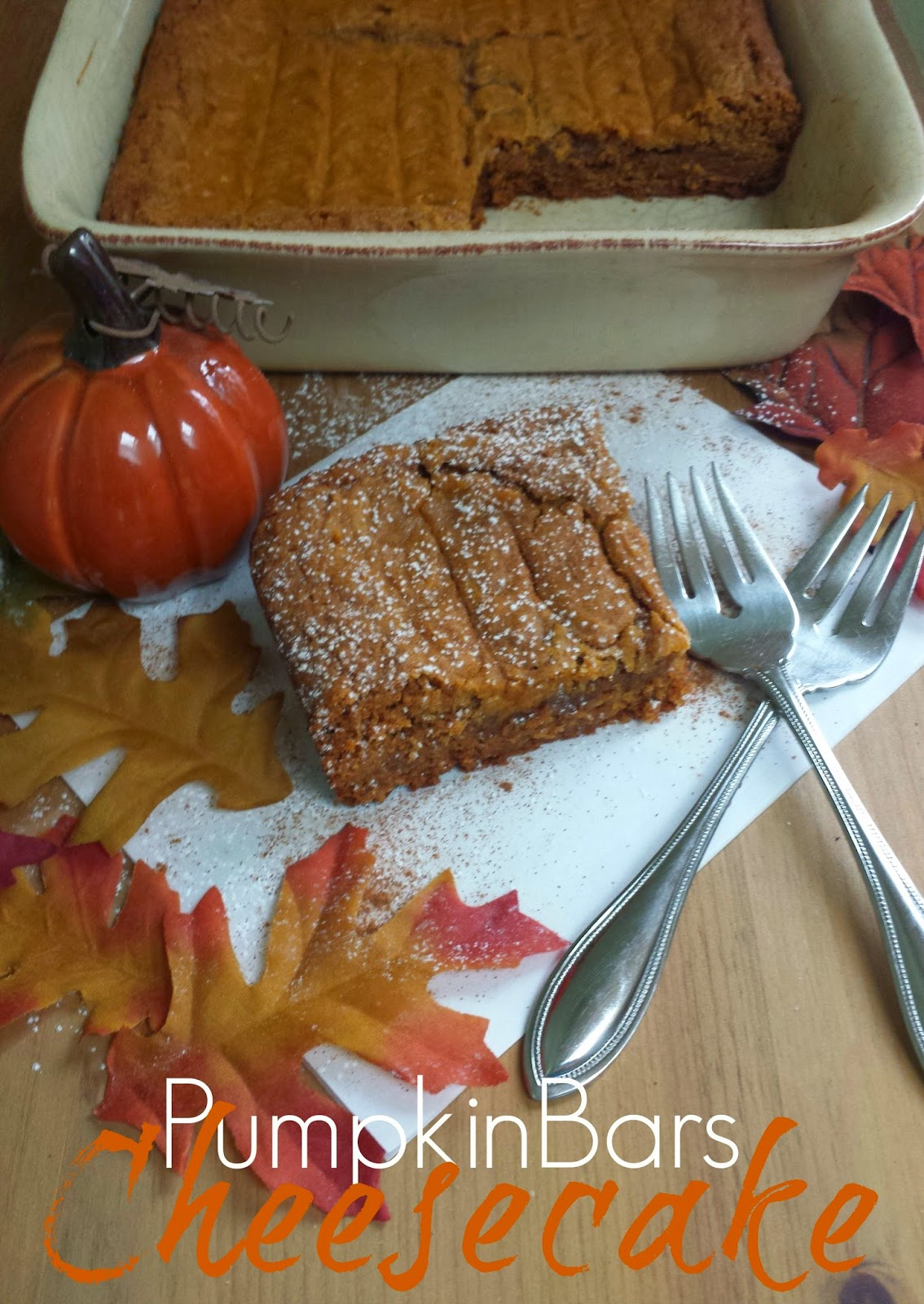 Three kids and a fish: pumpkin bars cheesecake