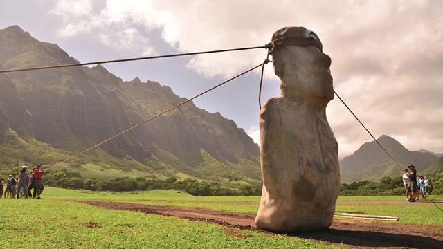 Cientistas fazem estátua da Ilha de Páscoa andar