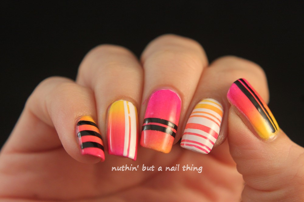 gradient nail art designs