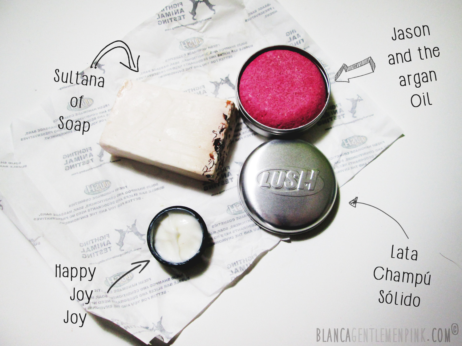 Happy Joy Joy, Champú solido, Sultana Soap, Lush