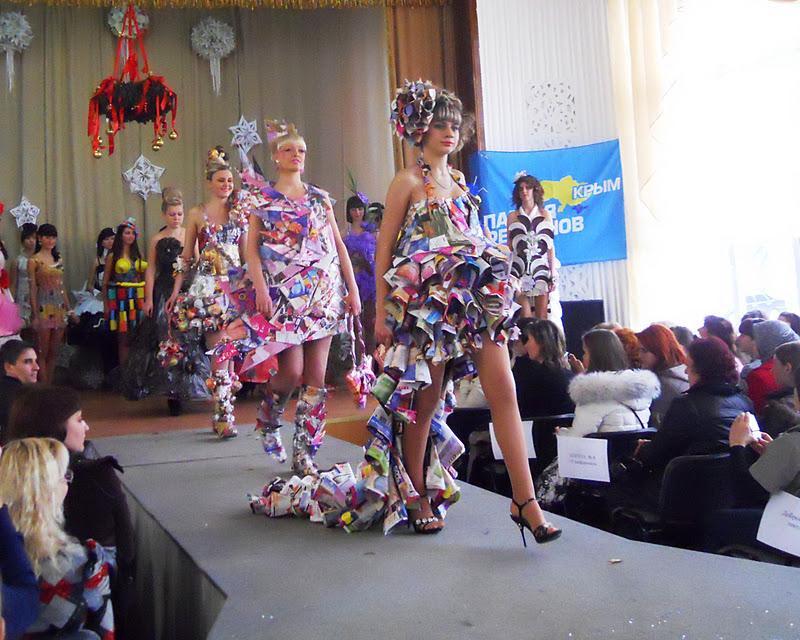 Платье на конкурс своими руками из подручных средств