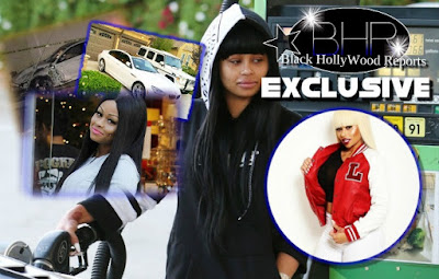 Blac Chyna's White BMW Was Involved In A Car Accident