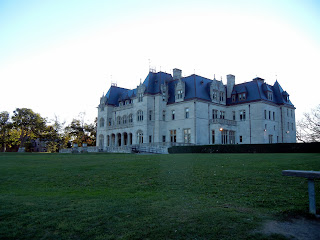 Massive mansion views off of the Cliff Walk in Newport, RI