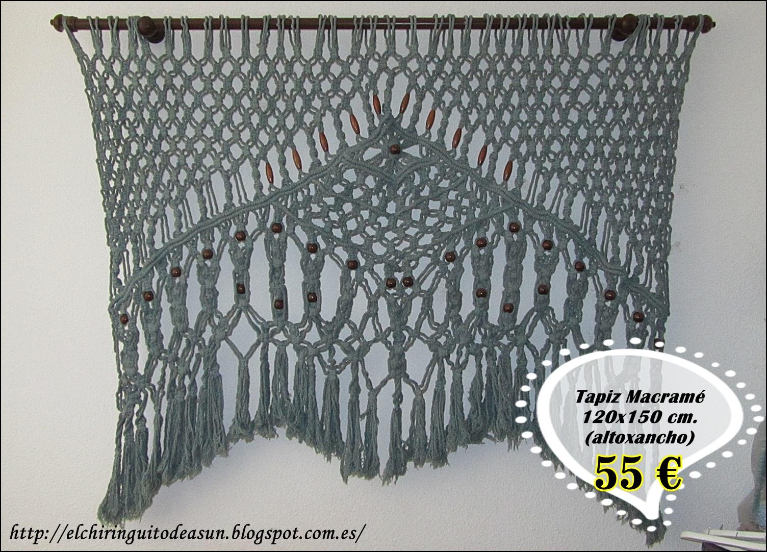 El chiringuito de asun tapices de macram - Tapices de macrame ...