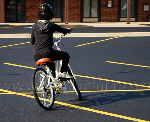 Learning to ride a bike as an adult: Pedaling means Riding. m0868 adult