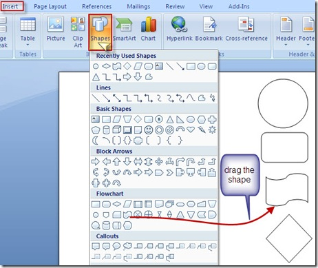 how to draw in word 2010