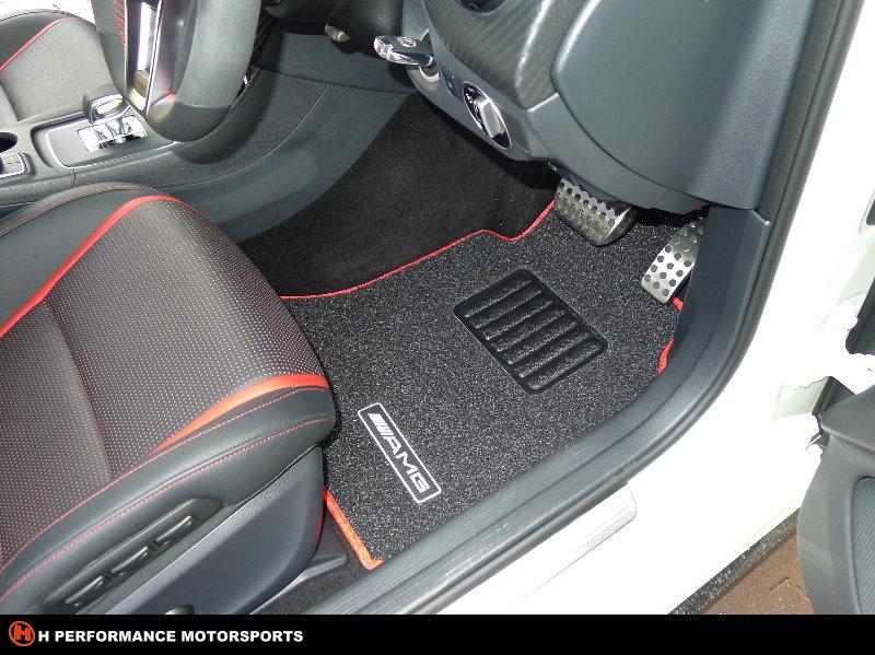 Premium car floor mat mercedes benz a45 amg car floor mat for Mercedes benz floor mats