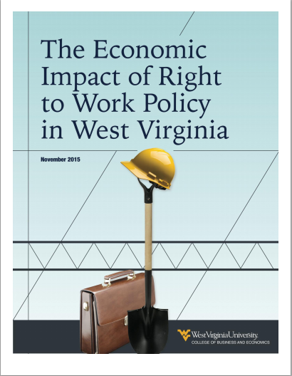 supporters of right to work legislation in charleston are calling attention to a new west virginia university study thats titled the economic impact of