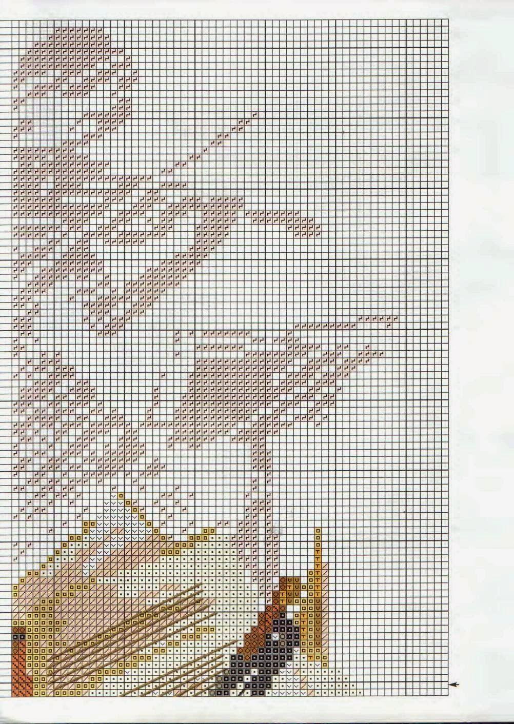 Скрипка схема для вышивки 61