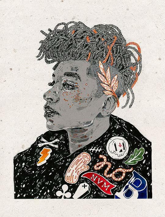 Ilustración y retratos hipster de Michael Howard
