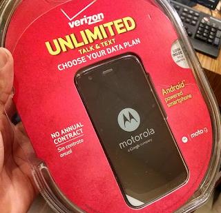 Verizon Moto G in Best Buy