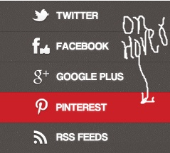 Social Buttons With Hover Effect