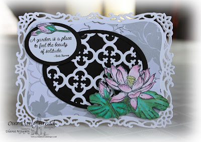 Our Daily Bread Designs, Lotus, Morning Glory, Quatrefoil Pattern Die